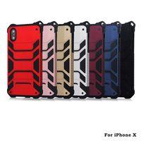 iphone örümcek hibrid kılıf toptan satış-Yeni iPhone x iphone 8 Için telefon kılıfı 2 1 Darbeye Dayanıklı Zırh Sert Çerçeve TPU + PC Jel Hibrid Örümcek-Adam Telefon Kılıfı