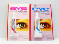 Wholesale eyelash adhesive black - New Adhesive False Eyelashes Eye Lash Glue Makeup Clear White Black Waterproof Makeup Tools 7g