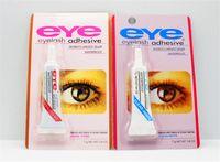 cola de cílios pretos venda por atacado-Novo Adesivo Cílios Postiços Eye Lash Cola Maquiagem Claro Branco Preto À Prova D 'Água Maquiagem Ferramentas 7g