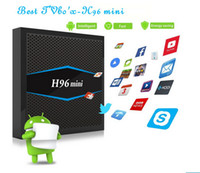 Wholesale android player tv online - H96 mini Smart TV BOX Amlogic S905W GB GB Android TV Box BT G G Dual WiFi Media Player