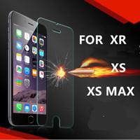 iphone explosionsgeschützte glas großhandel-Qualität Ausgeglichenes Glas Screen Protector 9H 0.26mm 2.5D Explosion Proof-Film für iphone 11 Pro X XR XS Max 8 7 6 6S und kein Paket BFM008