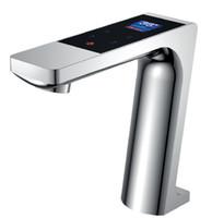 bacia de faucet termostática venda por atacado-Torneira da bacia digital LED display termostática toque torneira da bacia torneira misturadora toque torneiras Mostrar com fluxo de água
