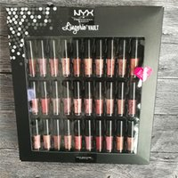 nyx lip lingerie venda por atacado-NYX Lingerie Vault SOFT MATTE Batom Lábio LIP Gloss 30 PCS Conjunto Sofe Veludo Lábio Maquiagem 30 cores conjunto Conheça O Cofre Metálicos