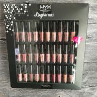 nyx lip lingerie großhandel-NYX Lingerie Vault SOFT MATTE Lippenstift LIP Gloss 30ST Set Soe Samt Lip Makeup 30 Farben Set Treffen Sie die Metallics Vault