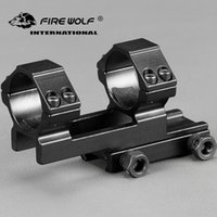 Wholesale picatinny tactical accessories - FIRE WOLF mm Offset mm Picatinny Weaver Rings Mount Bi direction Dia Hunting Tactical Rifle Scope Mounts Accessories