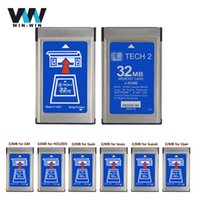 Wholesale tech2 cards - For G-M Tech2 32MB Memory Card With 6 Kinds Of Software & Empty Card for Tech 2 Diagnostic Tool With Free Shipping