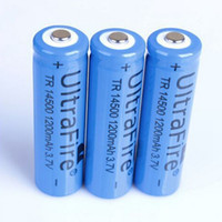 wiederaufladbare lithium-ionen aa großhandel-UltraFire 14500 (AA Batterie) 1200mAh 3.7V schützte nachladbare Li-Ionbatterie für Taschenlampe SK68 Freies Verschiffen