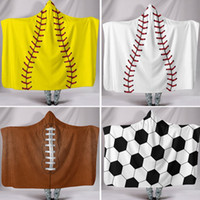 Wholesale christmas shawls - Party Supplies Baseball Softball And Football Poncho For Children Adult Outerwear Blouses Hoodies Clothes Warm Wrap Shawl Cape Coat WX9-547