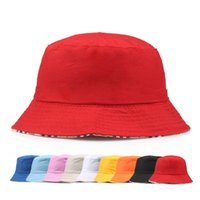 Wholesale outdoor summer hats for men - Cotton Travel Fisherman Leisure Bucket Hats Solid Color Fashion Men Women Flat Top Wide Brim Cap For Outdoor Sports Visor 3 5df Z