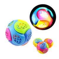 Wholesale funny games play kids online - New Hot Creative Children Assembled Educational Toys for Kids Flash Music Dancing Ball DIY Assembled Funny Playing Game Q0655
