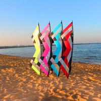 stunt kites 도매-무료 배송 고품질 2.1m 쿼드 라인 견인 스턴트 연 날리기 알바트 로스 성인용 낙하산 카이트 서핑 용 연