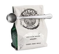 grampos para selagem de sacos venda por atacado-Prático Multifuncional de Aço Inoxidável Café Colher De Medição Com Saco Clipe De Vedação De Chá De Medição Colher Cozinha Ferramenta