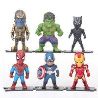 ingrosso giocattolo del bambino del cubo di plastica-Avengers Alliance Hands to Run Modello Infinite War Ban Pa Green Giant Spiderman Iron Man Captain America