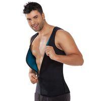 04aa5957c25 Burning Man Body Shaper Slimming Belt Belly Sweat Sauna Vest Neoprene  Hombre Zipper T Shirts Waist Trainer Corset Weight Loss