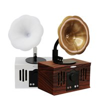 Wholesale vintage music boxes resale online - NEW AS80 Vintage Retro Phonograph Shape Wireless Bluetooth Speaker Stereo Music Player Sound Box Support TF Card Audio Input