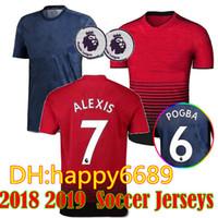 2718ef68f 18 19 ALEXIS 7 LUKAKU 9 soccer jerseys 2018 2019 home away man POGBA 6  RASHFORD UtD football shirt third MAILLOT DE FOOT THAILAND quality