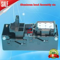 Wholesale printer dx5 - 5113Aluminum head Assembly six aluminum eco solvent printer sky color dx5 ink pump assembly inkjet printer machine