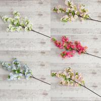 Wholesale cherry blossom party decorations resale online - Simulation Cherry Blossom Flowers Multi Color Artificial Flower Wedding Party Decorations New Hot Sale xs C R
