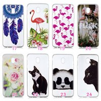 Wholesale banana phone cover for sale - Flower Soft TPU Case For Galaxy J2 PRO J3 J4 J6 J7 A6 Plus Fruit Panda Banana Butterfly Flamingo Marble Unicorn Cartoon Phone Cover