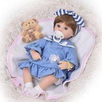 ingrosso abito blu vinile-Bambola appena nata da 17