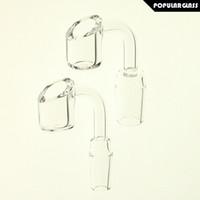 Wholesale Quartz Size - 4mm Thick Quartz Banger Quartz Nail Male Joint Size 14mm and 18mm 90 degrees PG5068