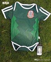 bebê bule venda por atacado-Espanha Argentina México Bélgica camisa de bebê 2018 Copa do Mundo 6-18 meses MULLER POGBA bebê Macacão de futebol camisas