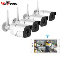 Wholesale wireless audio security system for sale - Group buy Wetrans Wireless Security Camera System P IP Camera Wifi SD Card Outdoor CH Audio CCTV System Video Surveillance Kit Camara