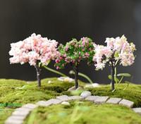 ingrosso piante in miniatura-Artificiale Mini Willow Tree Plants Miniature Fairy House Garden Dollhouse Paesaggistica Decor