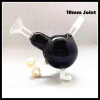 ingrosso tipo accessori per il fumo congiunto-Accessori per il fumo all'ingrosso Pipa ad acqua per fumatori Bong Mini Bong Bubbler nero 10mm Joint Black Nano Sphere Type Bong in vetro