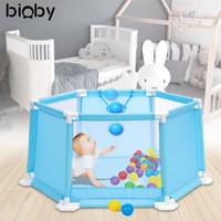 ingrosso recinzione in plastica-110CM Baby Box Portatile di plastica per bambini Play Center Cortile Casa Indoor Outdoor Pen Recinto per bambini Gioca Tent Ball Pool