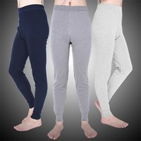 Wholesale Men Underwear Long Johns - Winter Warm Men Cotton Leggings Tight Men Long Johns Plus Size Warm Underwear Man Thermal Underwear Sleepwear