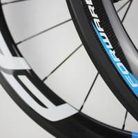 çinli karbonlu bisikletler toptan satış-SıCAK satış 50mm 700C fren karbon jantlar yol bisiklet karbon jantlar kattığı / tübüler yol tekerlek çin bisiklet tekerlekleri bazalt yüzey