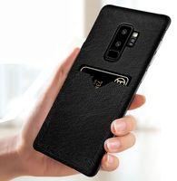 étui iphone carte de visite achat en gros de-Business Téléphone Cas Pour iPhone XS MAX XR X 8 7 6 6 Plus PU En Cuir PC Couverture avec Fente Pour Carte Cas pour Samsung Galaxy Note9 S9 Note8 S8