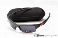 Wholesale half white color - Fashion New Flak Sunglasses OKLY Men Women Jackets Brand Design OK Sports Cycling Sun Glasses Eyewear Racing with case