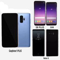 Wholesale hearts playing cards - Goophone S8 plus Note 8 Cell Phones unlocked phone quad core 1GB ram 16GB rom 6.2inch full Screen Show 64GB fake 4g lte Android Smartphone