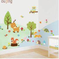 Wholesale sticker wall nursery owl resale online - Mosunx Business Forest Animals Owl Children s Room Bedroom Background Wall Sticker