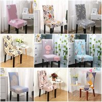 Wholesale japan fiber resale online - Christmas Wedding Hotel Chairs Seat Covers Antifouling Chair Cover Home Dining Elastic Xmas Slipcovers Polyester Fiber Removable zl hh
