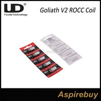 Wholesale nickel coils for sale - Group buy 100 Original Youde Goliath V2 ROCC Head ohm and Nickel ohm Coil Head Replacement Coils for UD Youde Goliath V2 Tank