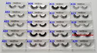 Wholesale Fast Hair Styles - 19 Styles Selectable Fast Free Shipping DHL EMS 1 Pair OEM Acceptable 3D Multi-Layered Real Mink Hair Fur Eyelashes Messy Luxury Eye Lashes