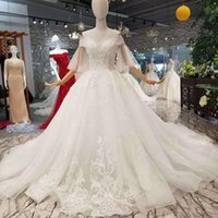 Wholesale wedding dresses for sale resale online - Special Tulle Half Sleeve Wedding Dress Plus Size Can Be Made Off The Shoulder Sweetheart Long Train Wedding Gown One Piece For Sale