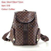 Wholesale leather backpack purse new - 2018 New arrival Famous Brand Bags Women PU Leather Handbags Famous Designer backpack Brand Bags Purse Shoulder Tote Bag Wallet L9958
