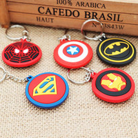 Wholesale superman batman for sale - The Avengers Marvel Character Captain America Thor Batman shield Batman superman KeyChain Keyrings Key Chain