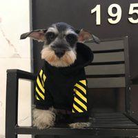 Wholesale yellow dog jacket resale online - Pet Fashion Long Sleeve Hoodied Yellow Stripes Dog Cool Hoodies Pet Winter Apparels Dog Cat Supplies Cute Bulldog Schnauzer Apparel