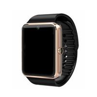 ingrosso i migliori telefoni d'orologio-La migliore qualità Smartwatch gt08 Bluetooth Smart Watch telefoni supporto GSM 32GB TF Card Touch Screen smartwatch Bluetooth Orologi di dhl