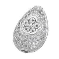 acessórios de cobre jóias venda por atacado-Atacado Handmade Jewelry DIY Acessórios Perles Despeje La Fabricação Bijoux Descobertas De Cobre De Luxo CZ Cristal Spacer Beads Encantos Acessórios