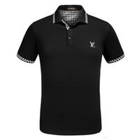 robe t-shirt imprimé achat en gros de-Printemps luxe italien T-shirt designer polo high street chaussettes brodées imprimer robe polo marque hommes