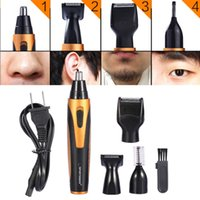 Wholesale nose hair trimmers for sale - Group buy 4 In Men s Electric Hair Trimmer Nose Ear Beard Eyebrow Sideburn Trimmer Clipper Shaver Razor Shaving Machine dhl