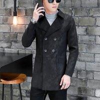 ingrosso giubbotto giovanile-Trench coat da uomo autunno inverno handsome giovanile lungo stile Inghilterra giacche a doppio petto giacca girocollo uomo