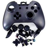 xbox shell оптовых-Бесплатная доставка Замена Полный комплект оболочки для Xbox One Контроллер Запасная часть черного цвета в наличии