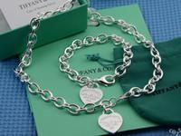 tanzanite yüzükler elmaslar toptan satış-(Bilezikler + Kolyeler) Elmas ve Tanzanit Açık Küme Kolye gümüş 925 Kolye Kolye Bileklik Yüzük Charm
